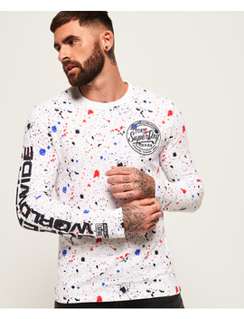 Worldwide Ticket Type Long Sleeve T Shirt by Superdry