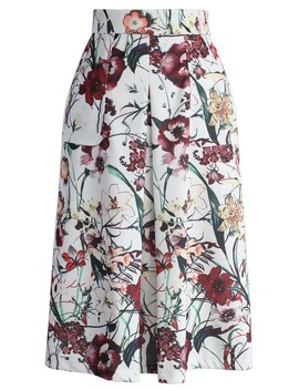 Floral Meticulous Full A Line Skirt by Chicwish