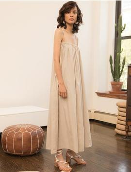 Tan Tank Maxi Dress by Pixie Market