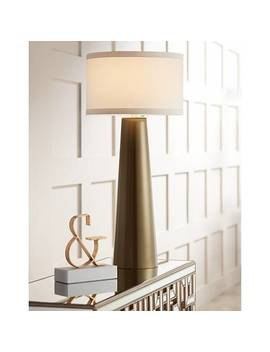Possini Euro Karen Dark Gold Glass Table Lamp by Lamps Plus