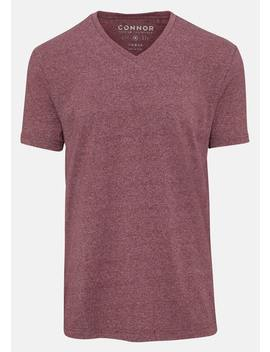 Berry Textured V Neck Tee by Connor
