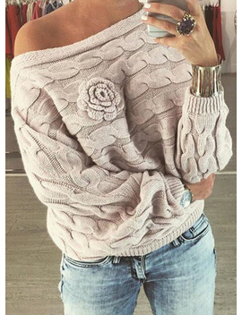 "<Span Itemprop=""Name"" Content=""Fashion Batwing Sleeve Floral Loose Fit Pullover Sweater"">Fashion Batwing Sleeve Floral Loose Fit Pullover Sweater</Span> by Oasap"