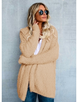 """<Span Itemprop=""""Name"""" Content=""""Solid Color Open Front Long Sleeve Sweater Coat"""">Solid Color Open Front Long Sleeve Sweater Coat</Span> by Oasap"""