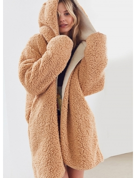 """<Span Itemprop=""""Name"""" Content=""""Hooded Long Sleeve Solid Color Lamb Wool Reversible Coat"""">Hooded Long Sleeve Solid Color Lamb Wool Reversible Coat</Span> by Oasap"""