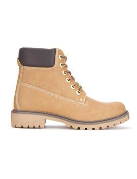 Platform Unit Worker's Boot In Beige by Koi Footwear