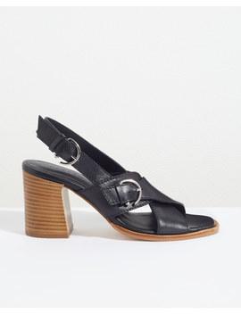 Bretta Buckle Heeled Sandals by Jigsaw