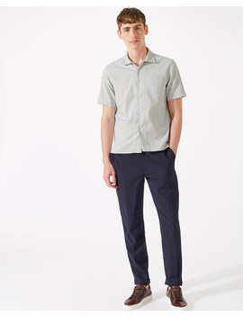 Capri Collar Dot Short Sleeve Shirt by Jigsaw