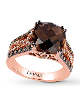 Le Vian Chocolate Quartz 1/3 Ct Tw Diamonds 14 K Gold Ring by Kay Jewelers