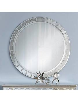 "Kesha Antique Silver Beveled 36"" Round Wall Mirror by Lamps Plus"