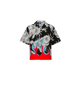 Printed Poplin Shirt by Prada