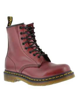 Women's 1460 8 Eye Cherry Smooth Leather Boots by Dr Martens