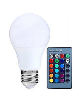 Hry 1pc 5 W 500lm E26 / E27 Led Globe Bulbs A60(A19) 15 Led Beads Smd 5050 Dimmable Decorative Remote Controlled Rgbw 85 265 V  #05389787 by Lightinthebox
