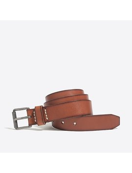 Washed Leather Roller Belt by J.Crew