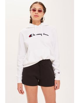 Script Logo Hoodie By Champion by Topshop