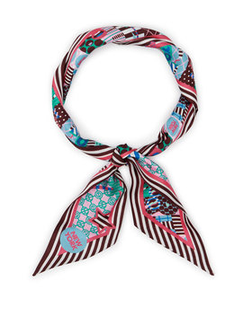 Whimsy Craig & Karl Skinny Mini Scarf by Henri Bendel