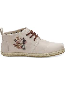 Blush Suede Floral Women's Bota Boots by Toms