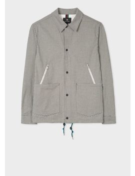Men's Black And White Gingham Coach Jacket by Paul Smith