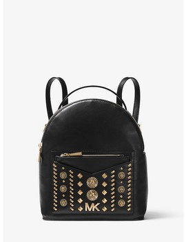 Jessa Small Embellished Leather Convertible Backpack by Michael Kors