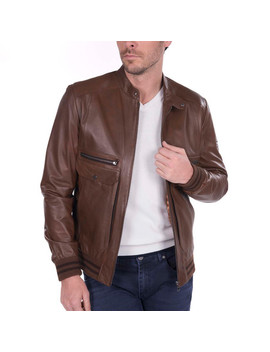 Lob Leather Jacket // Brown by Touch Of Modern