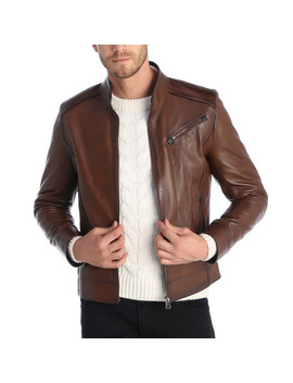 Touch Leather Jacket // Chestnut by Touch Of Modern