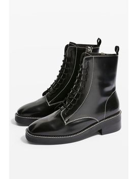 Artist Lace Up Boots by Topshop