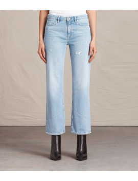 Belle Cropped Flare Jeans by Allsaints