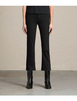 Zoe Cropped Bootcut Jeans by Allsaints