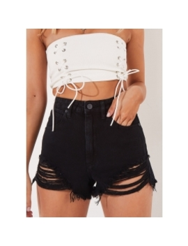 A High Relaxed Shorts   Salty Black by Peppermayo
