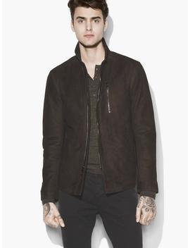 Wire Collar Suede Jacket by John Varvatos