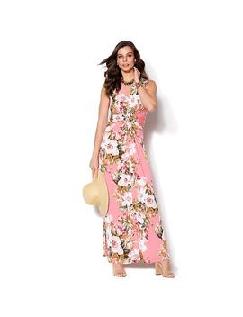 Iman Global Chic Luxury Resort Knockout Maxi Dress And Necklace by Iman