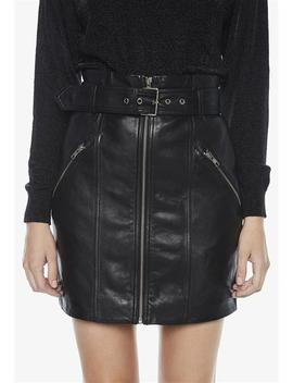 Mini Leather Skirt by Bardot