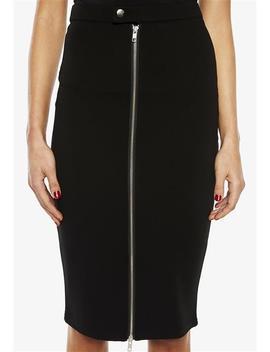 Phoebe Midi Zip Skirt by Bardot