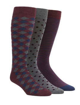 The Burgundy Sock Pack by The Tie Bar