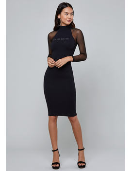 Logo Seamless Midi Dress by Bebe