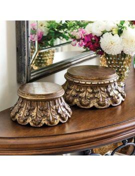 Wooden Pedestals by Ballard Designs