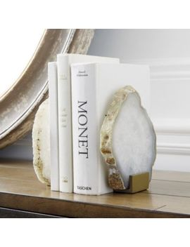 Agate Bookends   Set Of 2 by Ballard Designs
