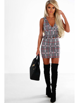 Little Miss Perfect Black And Red Houndstooth Check Co Ord by Pink Boutique