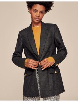 Wool Flannel Military Blazer by Me+Em