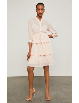 Clip Dot Tiered Ruffle Dress by Bcbgmaxazria