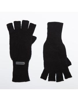 Cashmere Blend Fingerless Gloves In Black by Dstld