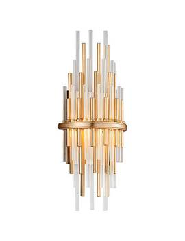 "Corbett Theory 17"" High Gold Leaf Led Wall Sconce by Lamps Plus"