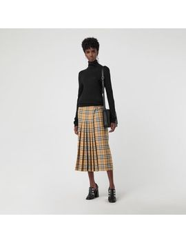 Vintage Check Wool Kilt by Burberry