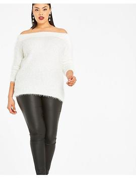 Fluffy Bardot Jumper by Simply Be
