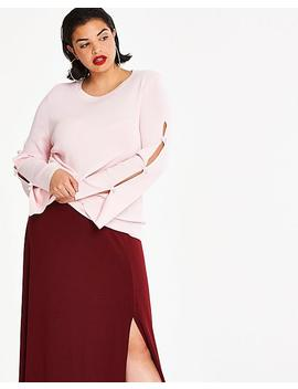 Bow Sleeve Jumper by Simply Be