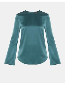 Flat Sateen Long Sleeve Top by Theory