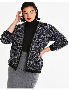 Bobble Stitch Detail Cardigan by Simply Be