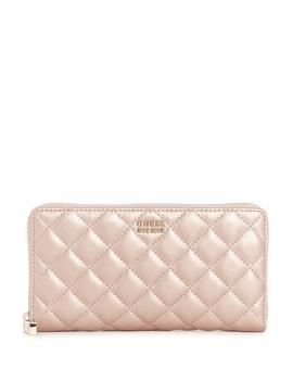 Victoria Quilted Zip Around Wallet by Guess