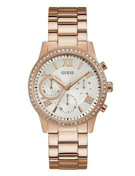 Rose Gold Tone Rhinestone Sport Watch by Guess