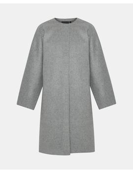 Wool Cashmere Rounded Coat by Theory