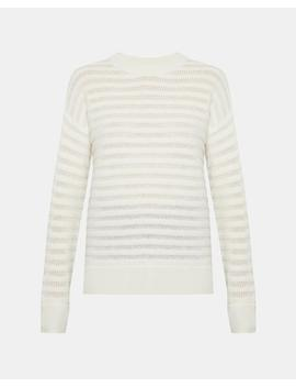 Cashmere Novelty Striped Pullover by Theory
